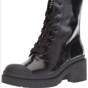 Cute combat leather  boots